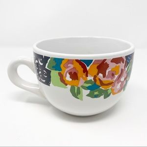 HF 96 Ceramic Floral Print Coffee Large 22 Oz